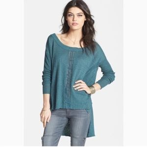 Oceanside Lace Road Boxy Knit Popover Sweater
